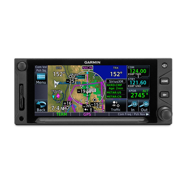 Garmin GTN 650 Xi display map, weather and traffic