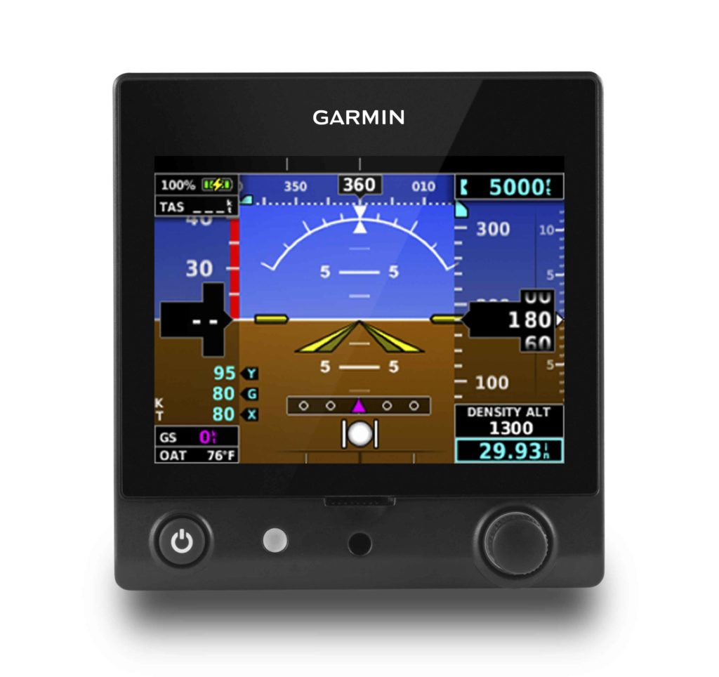 Garmin G5 displaying Density Altitude