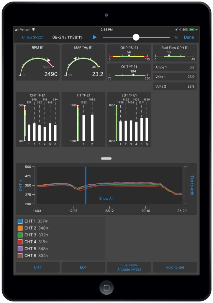 Garmin Pilot EIS on iOS displaying EIS data