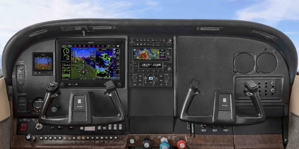 Cessna 182 instrument panel with Garmin avionics