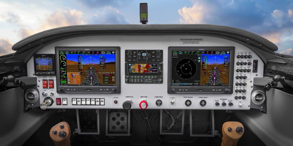 Vans Aircraft panel with Garmin avionics