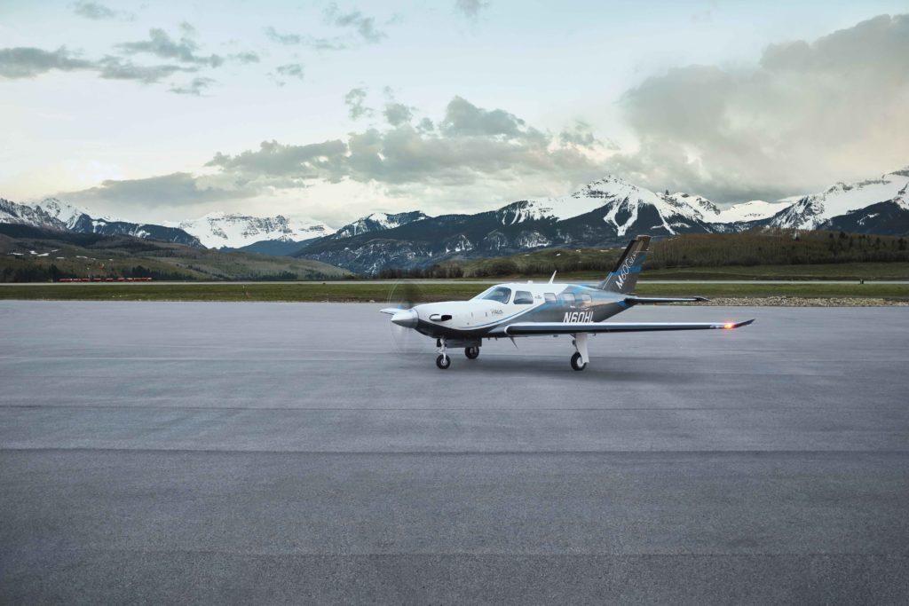 Piper M600/SLS aircraft taxiing.