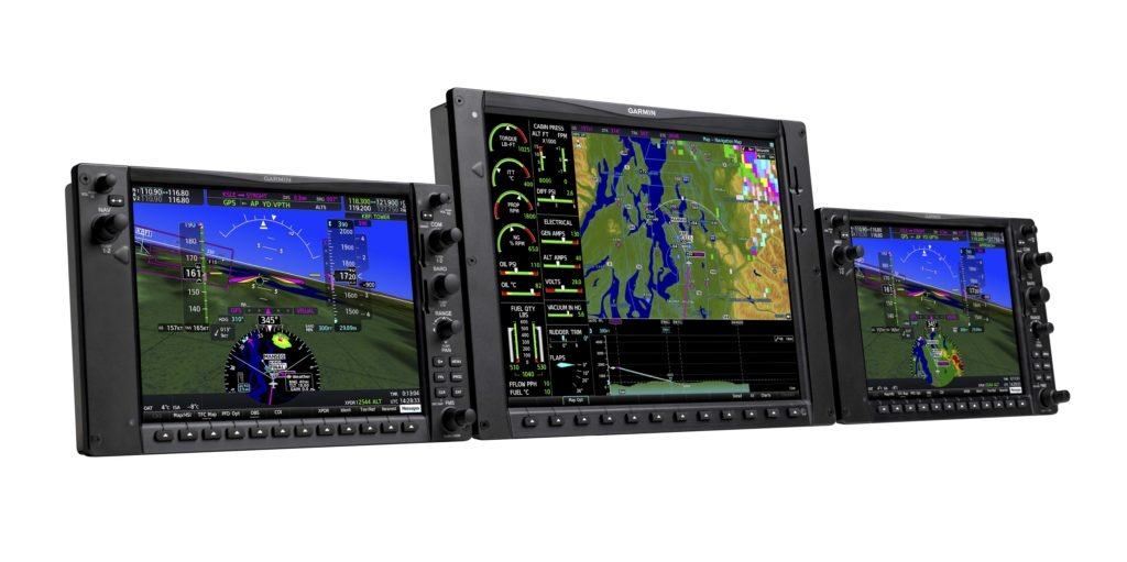 G1000 NXi layout for Piper Meridian aircraft with three displays.