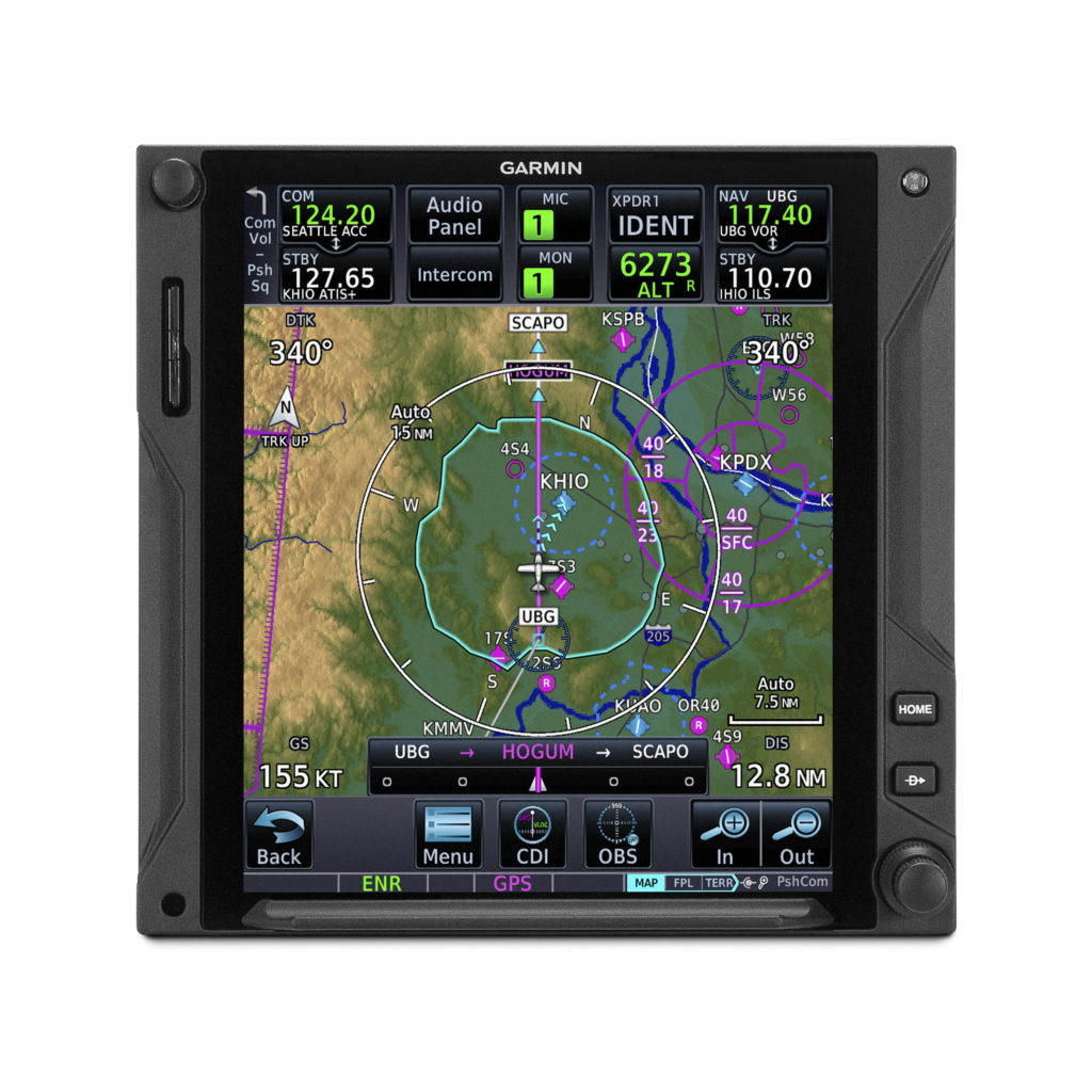 Glide Range Ring and Best Glide Airport Indicator on Garmin GTN 750Xi