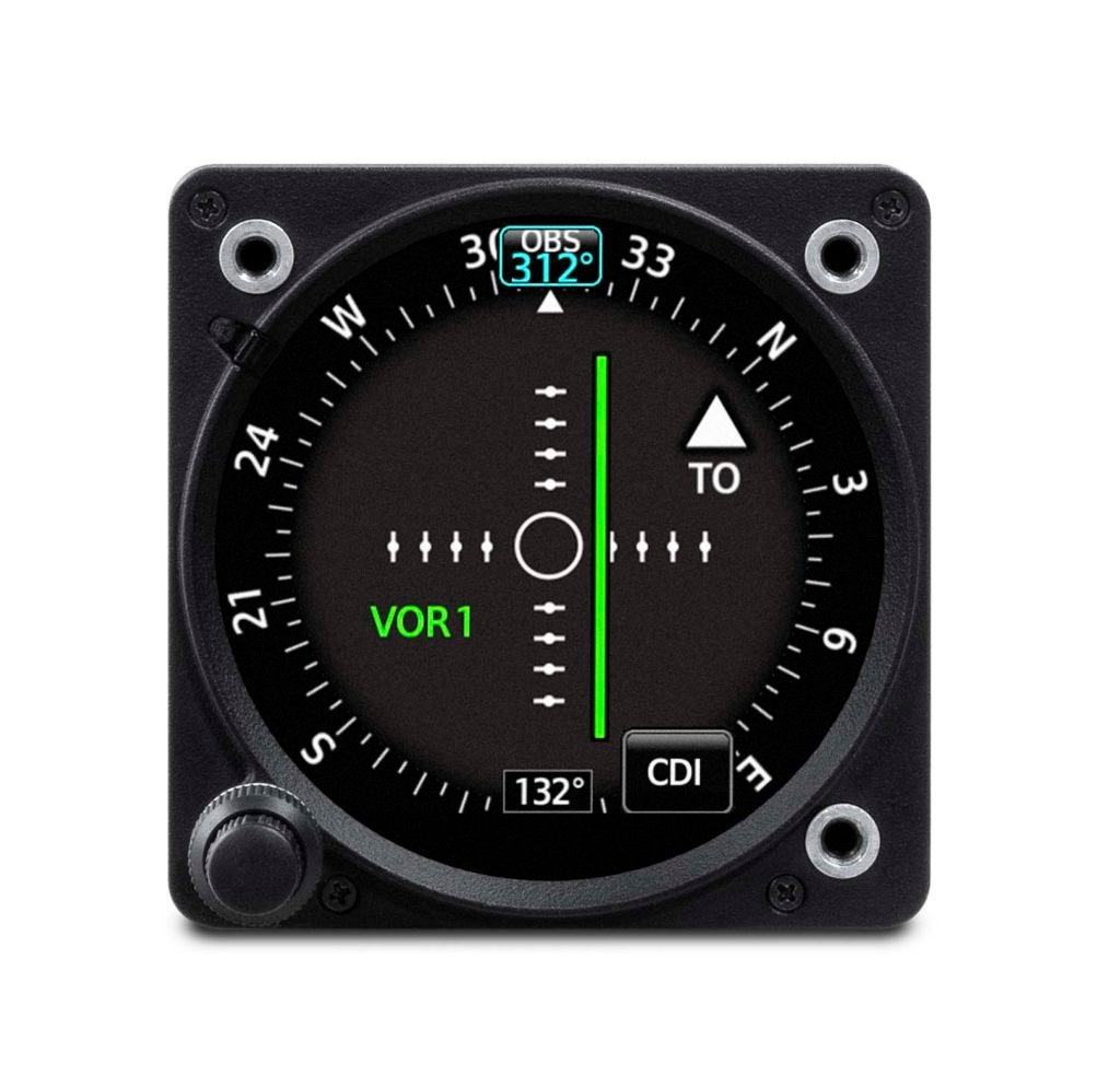 Garmin GI 275 electronic flight instrument set up as a Course Deviation Indicator