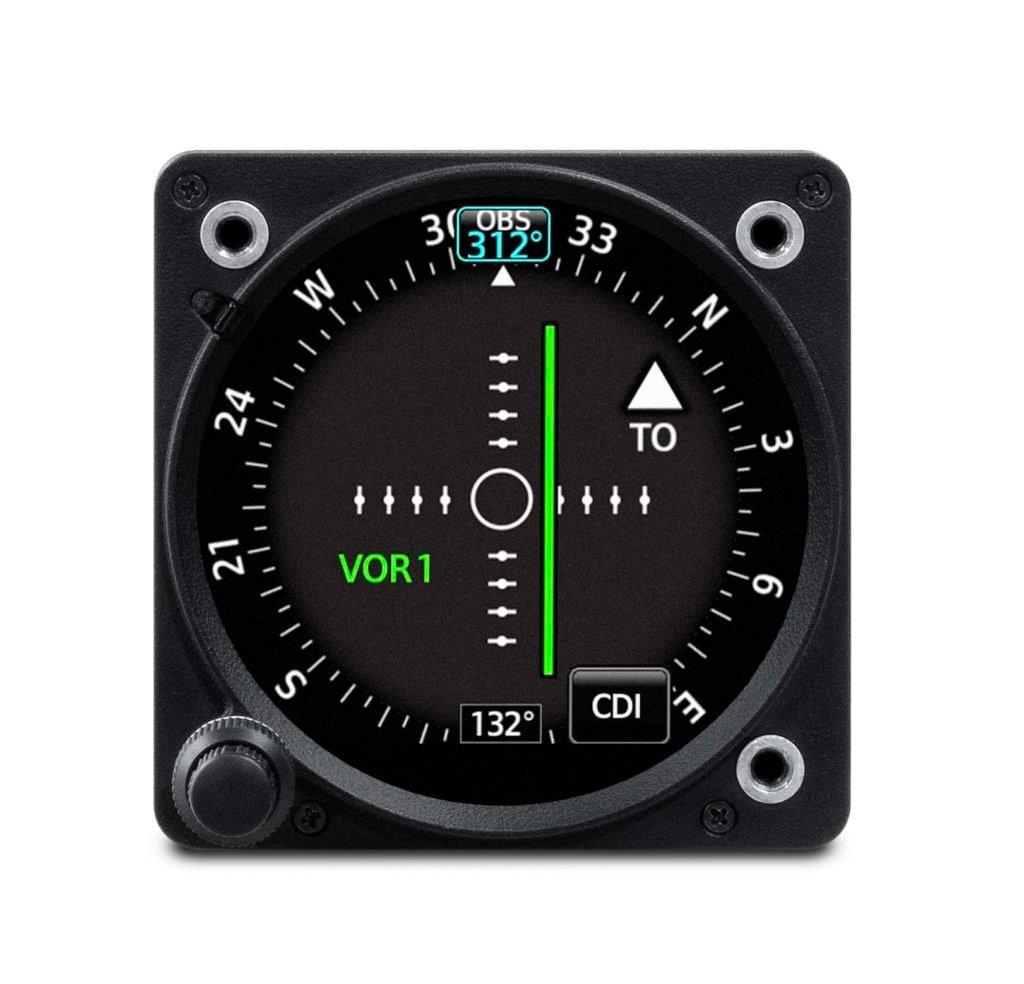 Garmin GI 275 electronic flight instrument set up as a Course Deviation Indicator